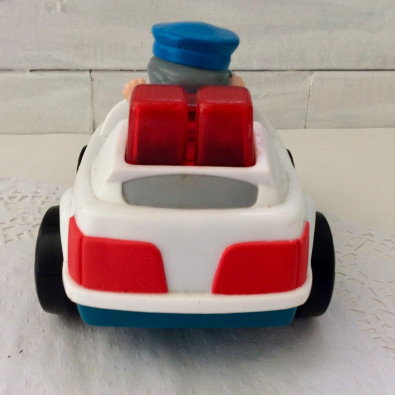 Fisher Price Police Car co-worker Gift collectible gag gift vintage toy Little People Police Officer