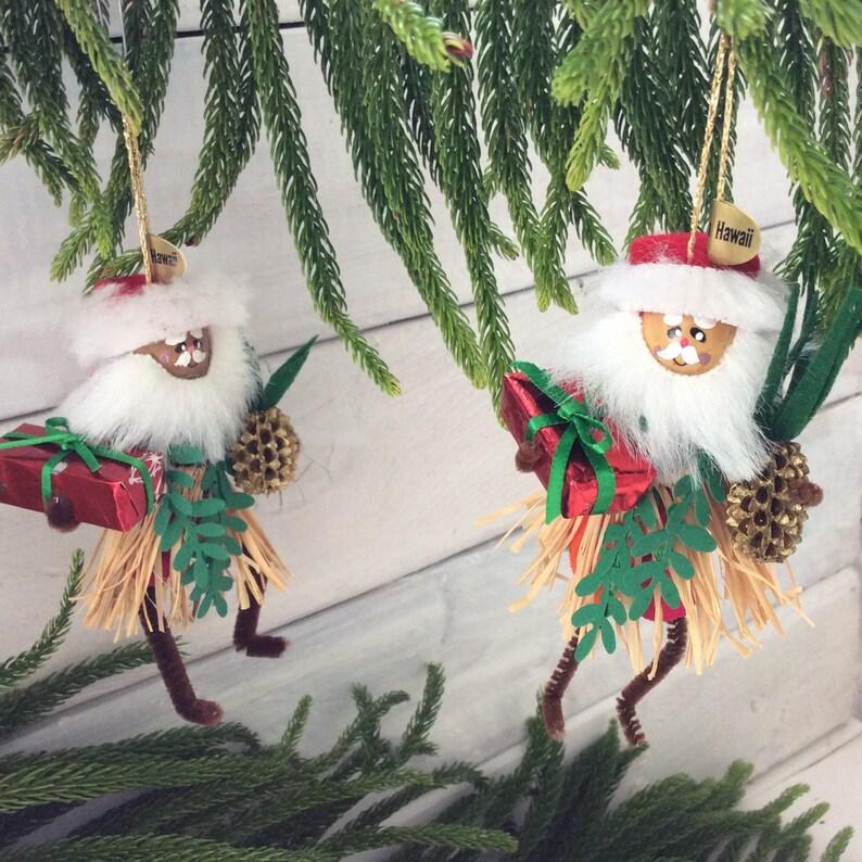 Hawaiian Christmas Decoration Hula Santa Christmas Etsy