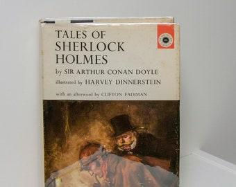 "Sherlock Holmes Book ""Tales of Sherlock Holmes"" First Edition 1963 Gorgeous Illustrations Sherlock Holmes Gift Doctor Watson Baskervilles"