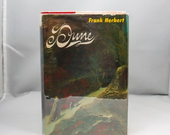 """c.1977 Frank Herbert """"Dune"""" Vintage book club hardcover First edition matching cover artwork Nice!"""