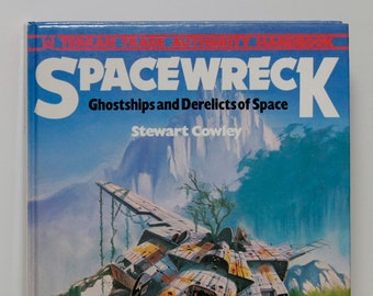 """Sci Fi Geek Reader Gift, """"Spacewreck"""", First Edition, 1979, Scarce hardcover coffee table illustrated book, science fiction space art, AMAZE"""
