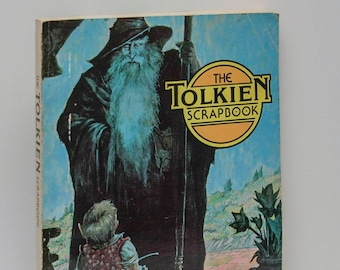 "Book Nerd Gift ""The Tolkien Scrapbook"" Large Illustrated Paperback Early Printing 191 p. Hobbit Lord of the Rings Middle Earth LOTR Poetry"