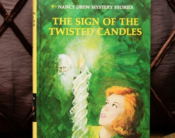 """Nancy Drew Vintage 1978 *BRAND NEW / UNREAD* Book: """"The Sign of the Twisted Candles"""" #9 