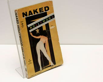 "Photography Books, Weegee, First Edition Paperback,  ""Naked Hollywood"",  1955, Black White Pictures, Movies, beaches, gift for film buffs"