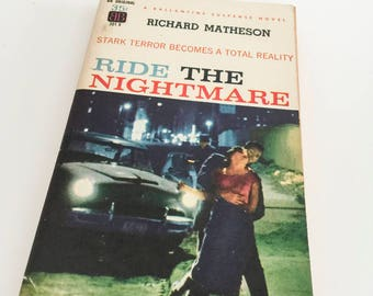 """Richard Matheson """"Ride the Nightmare"""" Alfred Hitchcock First Edition """"I Am Legend"""" """"Cold Sweat"""" James Mason Gifts for Film Geeks PBO Zone"""