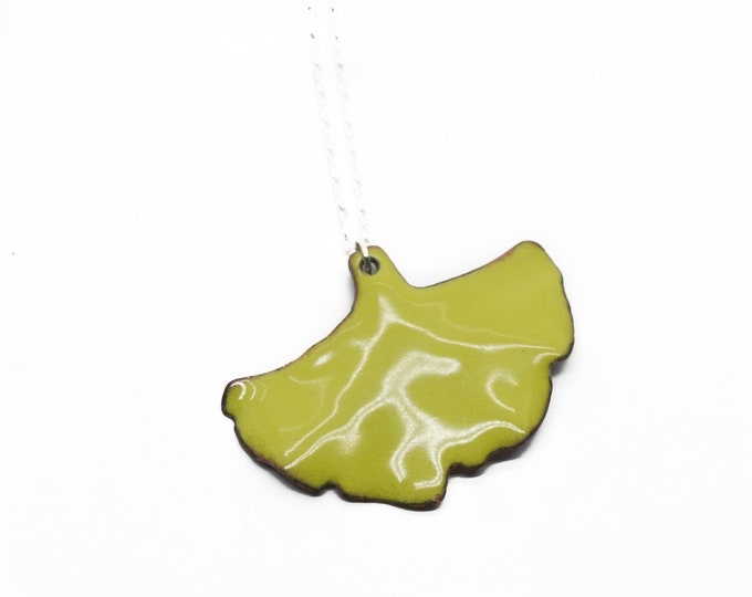 Large Ginkgo Leaf Necklace