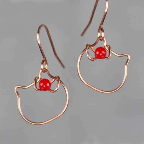 270bb74b9 Hello Kitty Hoop Earrings Bridesmaid Gift Gift For Her Etsy
