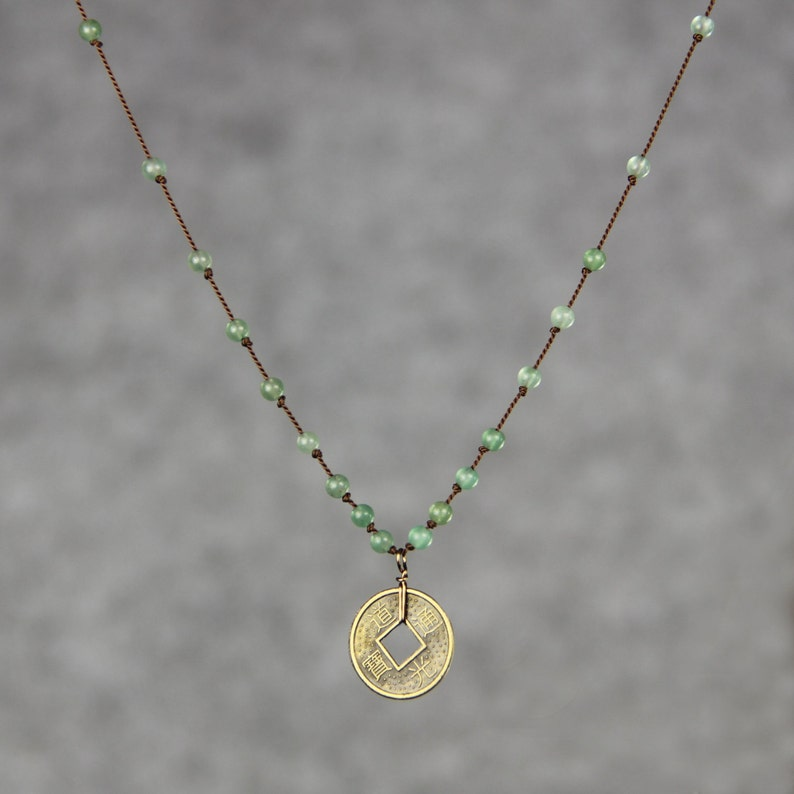 Antique coin charm necklace bridesmaid gift gift for her image 0