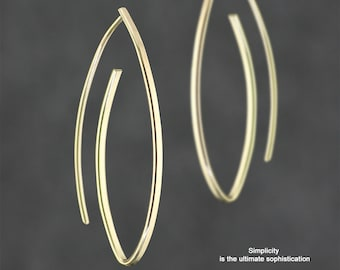 Silver earrings, Hoop earrings, Gift for her, Wedding gift, Gift for her, Handmade jewelry, Personalized jewelry, Free Us Shipping