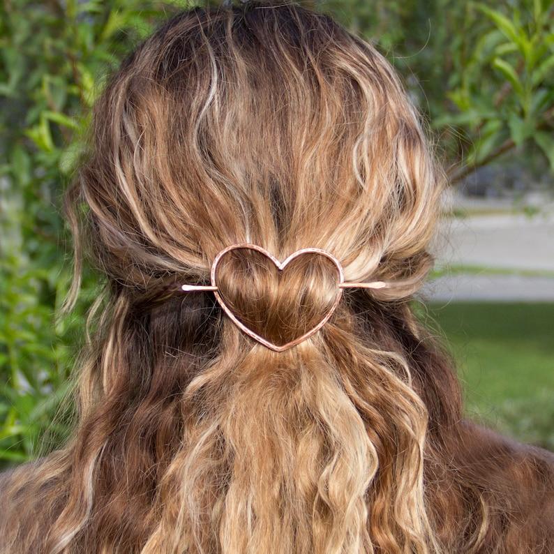 Hair Stick Heart hair pin Hair fork Hair jewelry Free US image 0