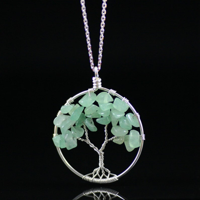 Tree of life pendant necklace bridesmaid gift gift for her image 0