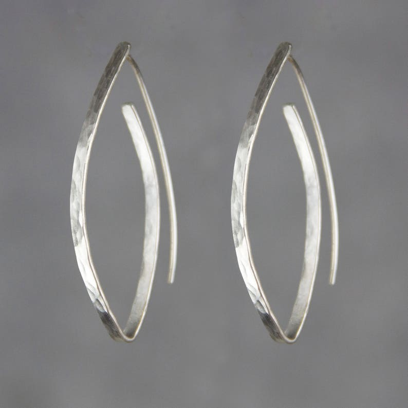 Silver earrings Hoop earrings Gift for her Wedding gift image 0