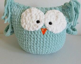 Seafoam Green plush owl / pillow