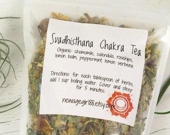 Svadhisthana Chakra Organic Loose Tea - Chakra Teas - Sacral Chakra Tea - Vegan
