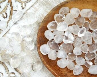 Clear Quartz Tumbled - Polished Quartz - Natural Quartz - Tumbled Stones - Reiki Charged Stones - Healing Crystals - Tumbled Gemstones