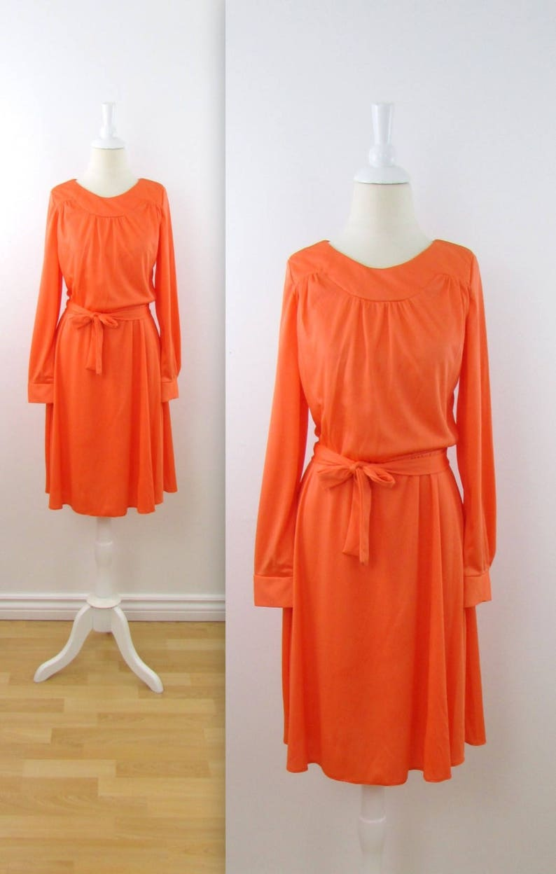 dd1687297d8 David Marshall Clementine Day Dress Vintage 1970s Long
