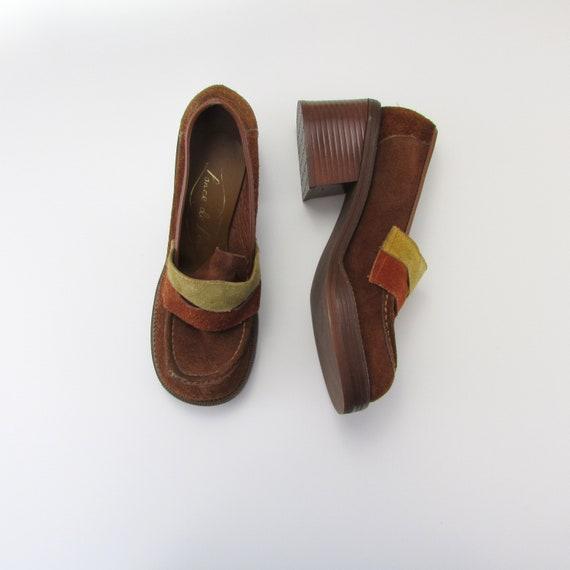 Vintage 1970s Platform Shoes Women - 1970s Platfor