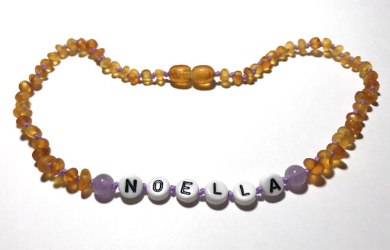 Amber Teething Necklace - Personalized