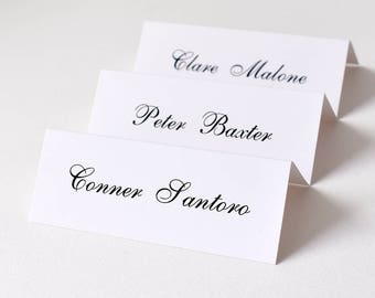 place cards for wedding x 50 personalised wedding table name tags guest place setting table name card place cards guest name cards - Table Place Cards