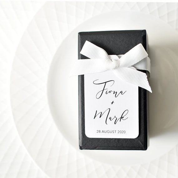 10 Kraft White Gift Tags Wedding Favour Bomboniere Personalised Love is Sweet