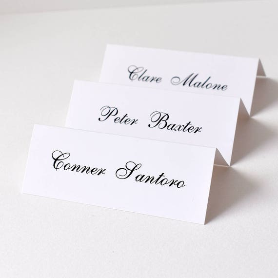 place cards for wedding x 50 personalised wedding table name etsy