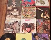 12 ALBUMS Woodstock Santana Airplane Tull Zeppelin Records