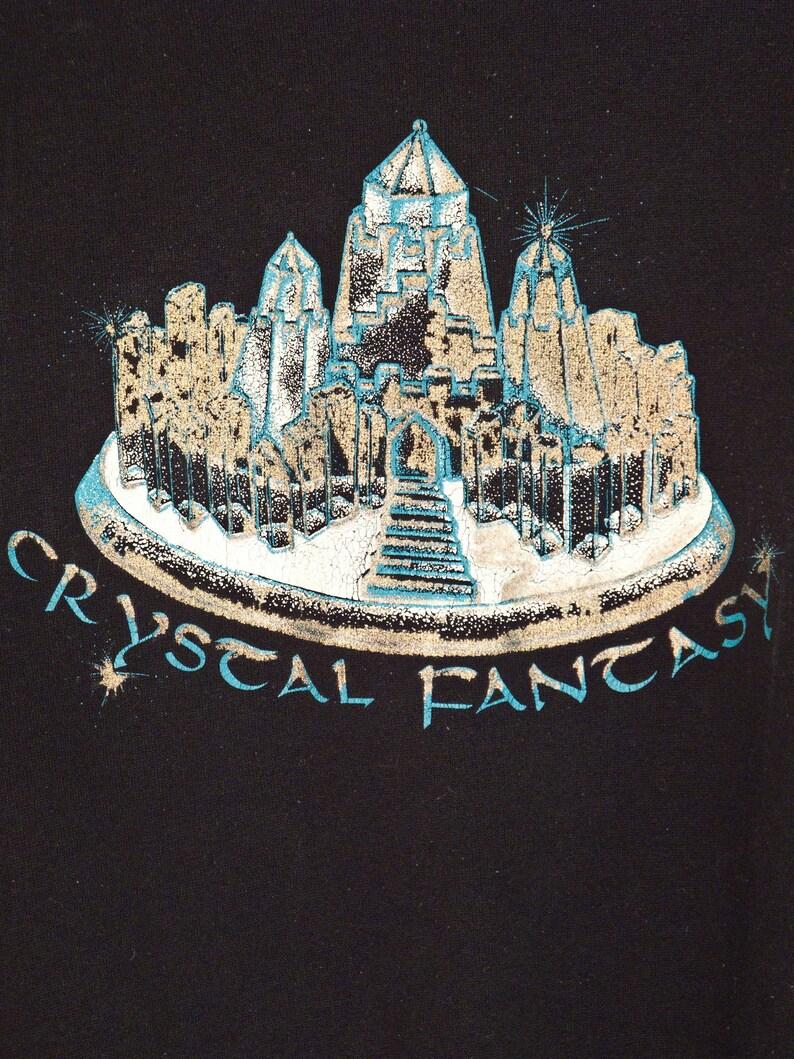 f538ab99ac05 CRYSTAL Fantasy Sweatshirt 80s Metallic Ice Castle Jumper