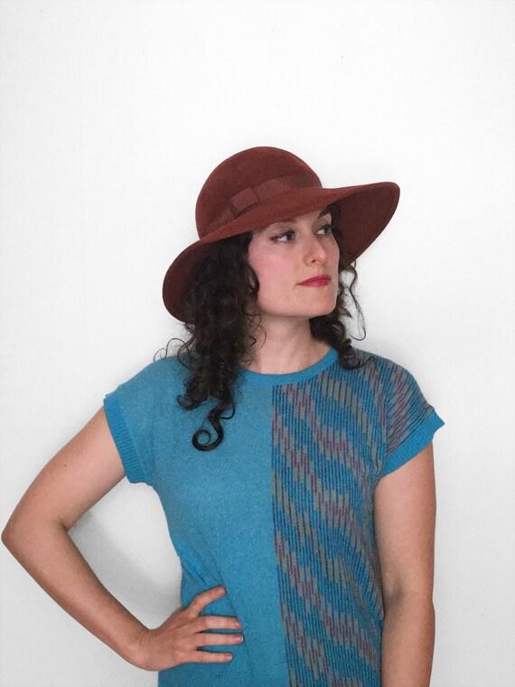 70s Floppy Hippie Hat by ERNIE in Paprika