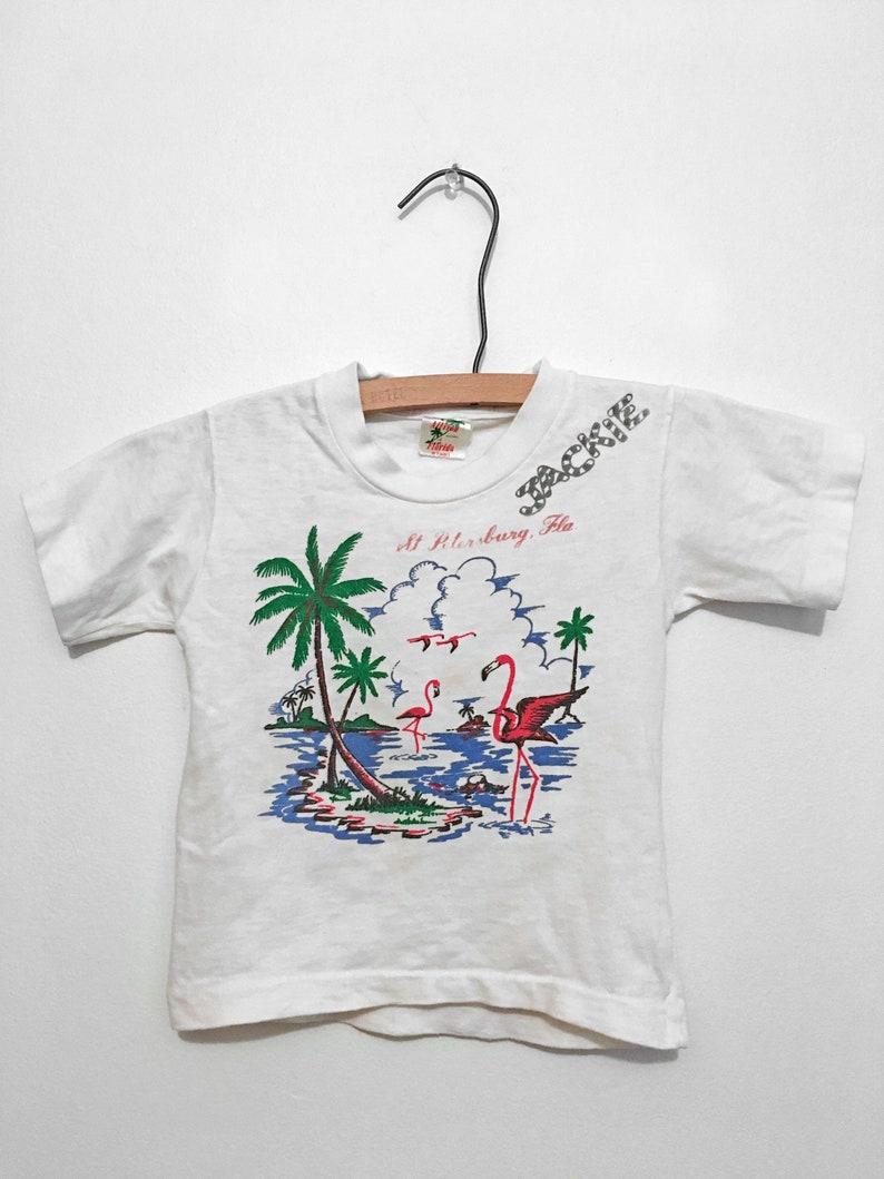 FLORIDA Baby T-Shirt 50s 0-6 Months JACKIE Flamingos