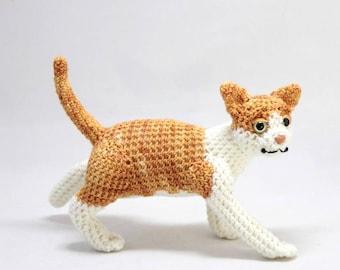 Orange and White Tabby Cat Doll