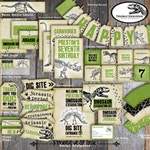 Dinosaur Party | Dinosaur Party Decorations | Dinosaur Birthday | Dinosaur Excavation | Dino Dig | Fossil | Set Kit Collection | Printable