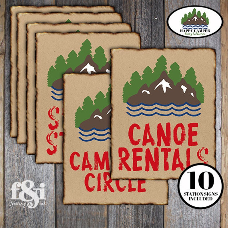 picture relating to Printable Camping Signs referred to as Tenting Social gathering Signs and symptoms Camp Celebration Indications Tenting Birthday Decorations  Tenting Get together Decorations Camp Indications Tenting Signs or symptoms Printable