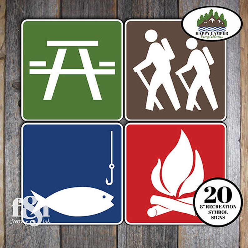 image relating to Printable Camping Signs referred to as Tenting Logo Indicators Tenting Social gathering Indications Sport Indication Tenting Occasion Decorations Camp Occasion Indicators Tenting Signs or symptoms Printable