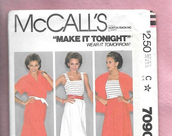 dress McCall/'s sewing pattern M7090 figurative attached skirt