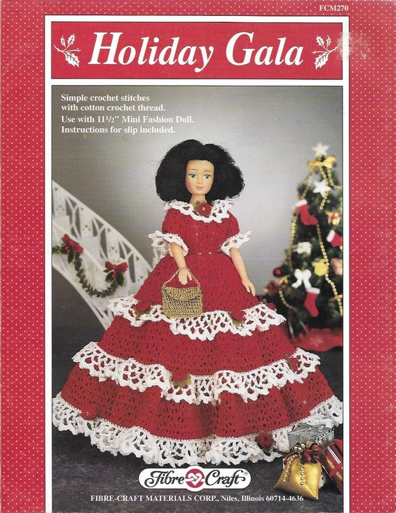 Polly Put The Kettle On Doll Outfit Fibre Craft Crochet Pattern//Instructions