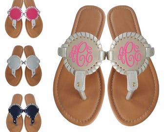 460d662ed3ac66 Monogram sandals