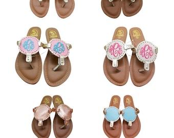 6a91ce092625ae FLOWER GIRL Kids Monogram Flip Flops