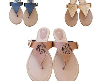 d654b73142f4e8 Monogrammed Sandals