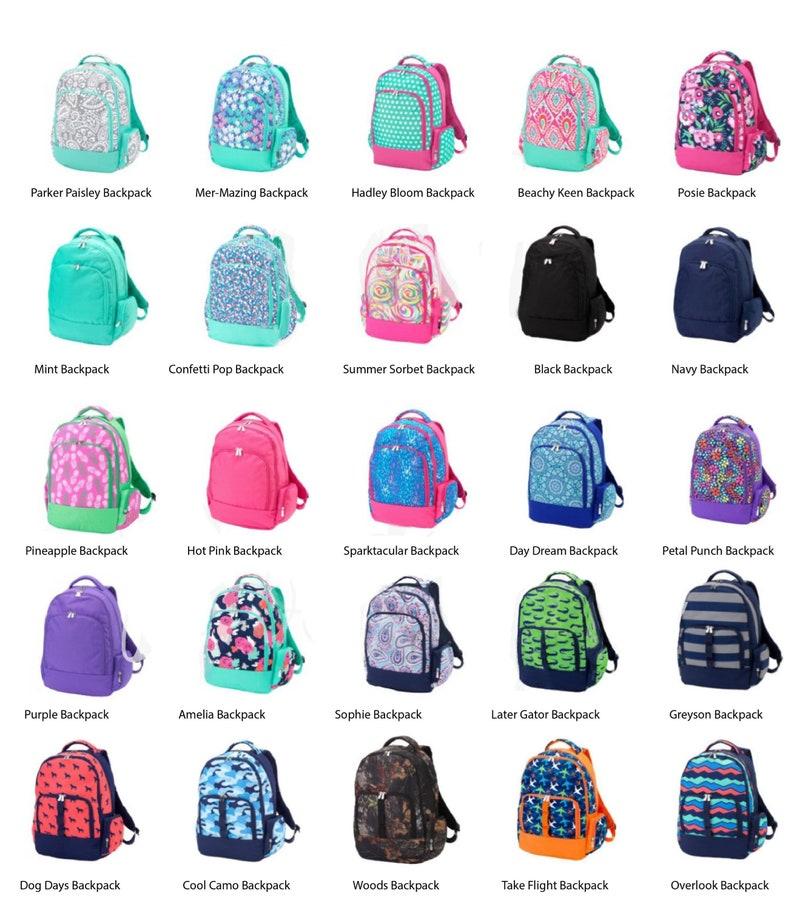 9cdaa905b7 Monogrammed Matching Backpack   Lunchbox Set Girls Boys Kids