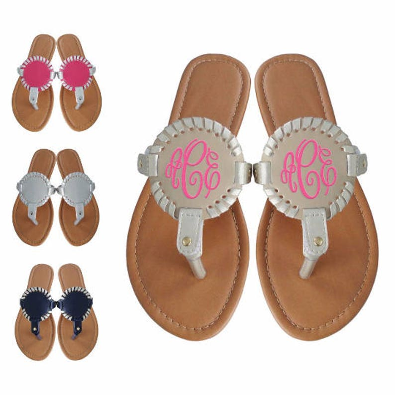 6743383431f4f Monogram Sandals Monogram Flip Flops Monogram Sandal