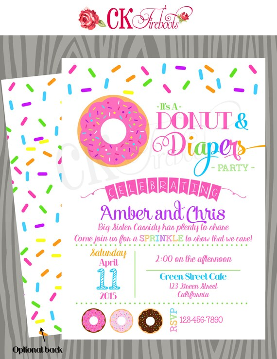 Donuts and diapers sprinkle baby shower invite etsy image 0 filmwisefo