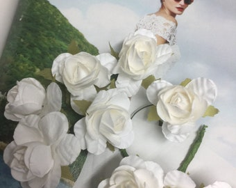 White paper flowers etsy large paper flower roses white color roses white roses white paper flowers wedding supplies flowers craft supplies narelo mightylinksfo