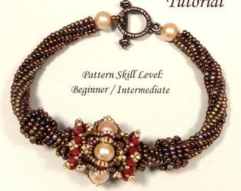 RASHMI beaded bracelet beading tutorial beadweaving pattern seed bead beadwork jewelry beadweaving tutorials beading pattern instructions