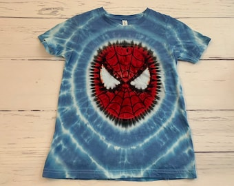 28a9e2dd Kid's Youth Large Spiderman Tie Dye Tee