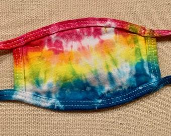 Children Kid's Tie Dye 100% Cotton Face Mask Washable Reusable