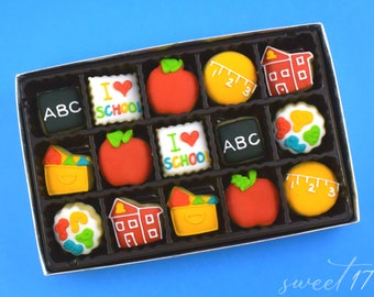 Mini Back to School Sugar Cookies Gift Box