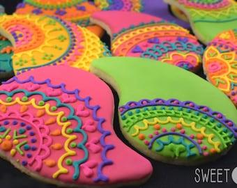 Custom Paisley Lace Sugar Cookies (Set of Six)