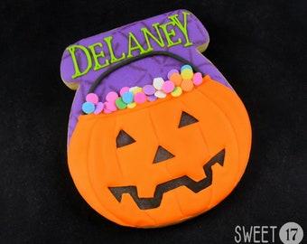 Personalized Halloween Sugar Cookies (Set of Six)