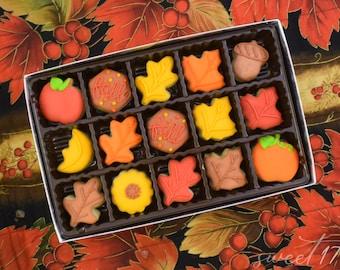 Mini Fall Sugar Cookies Gift Box