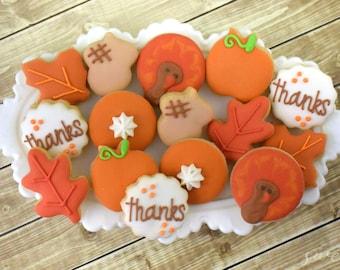 Mini Thanksgiving Sugar Cookies Gift Box